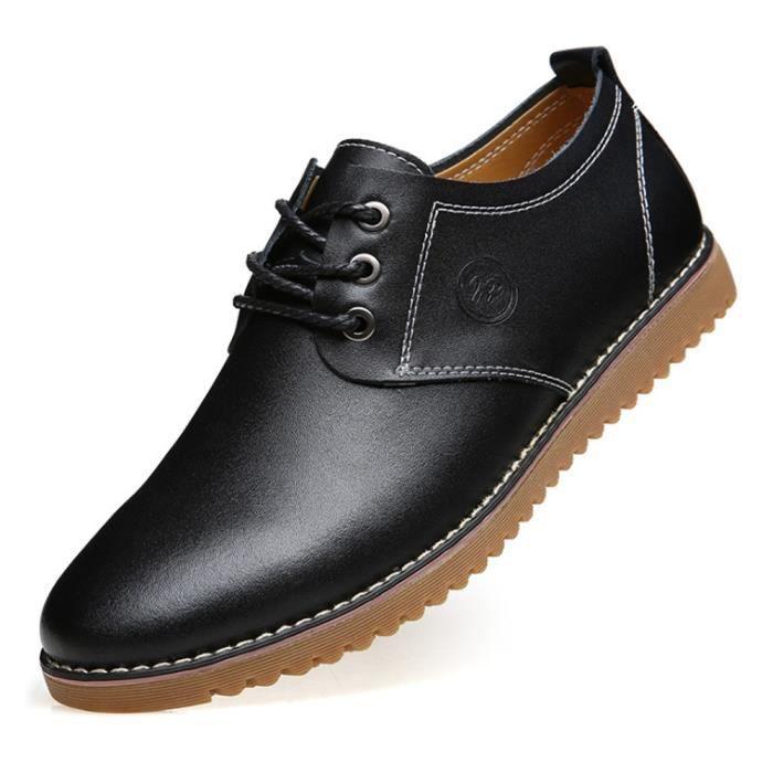 39967b3178d7 Cuir Chaussures Homme Noir Richelieu Noir Noir - Achat   Vente ...
