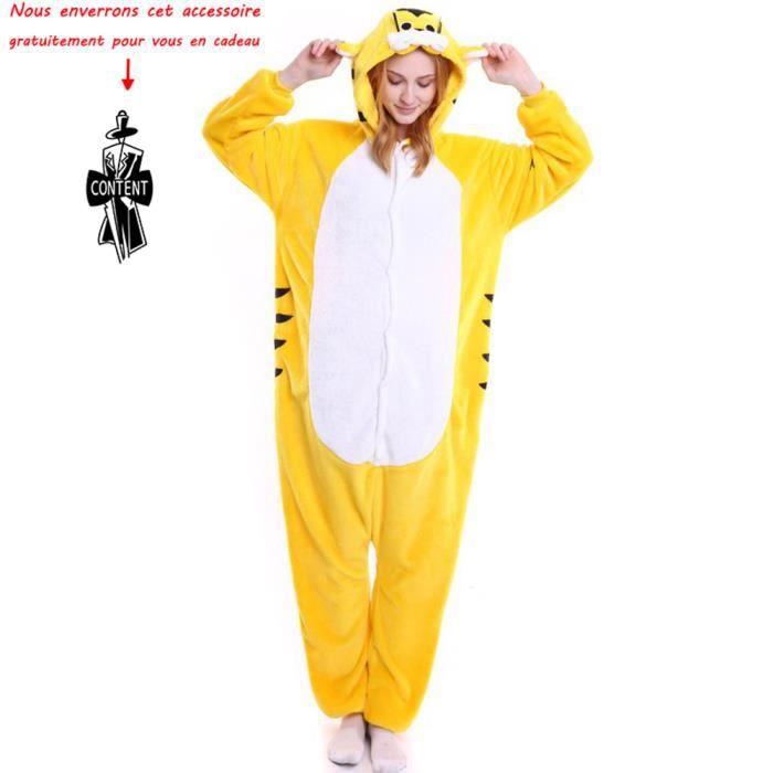 nuances de magasiner pour authentique comment chercher NOUVEAUTÉ Combinaison animaux pyjama Femme et Homme grenouillère adulte ado  cartoon pour déguisement chemise de nuit Vêtement