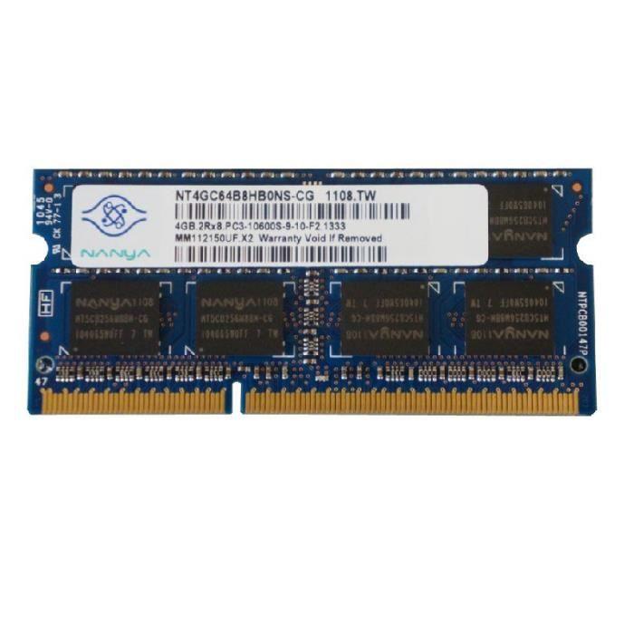 MÉMOIRE RAM 4Go RAM PC Portable SODIMM Nanya NT4GC64B8HB0NS-CG