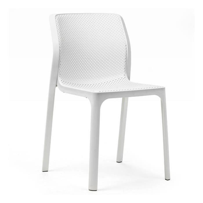 Chaise de jardin moderne et confort Bit NARDI Blanc