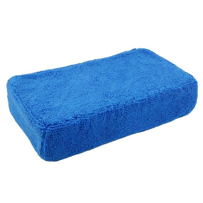 EPONGE - PEAU DE CHAMOIS - MICROFIBRE - CHIFFON Fenêtre de voiture Porte éponge de nettoyage Bleu