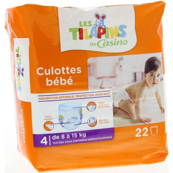 Les Tilapins Culottes Bebe Taille 4 8 A 15kg 22 Couches Achat