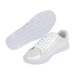 evo Chaussures ou cuir basses Carnaby Lacoste agt 118 simili blc Xww7PqZ1n