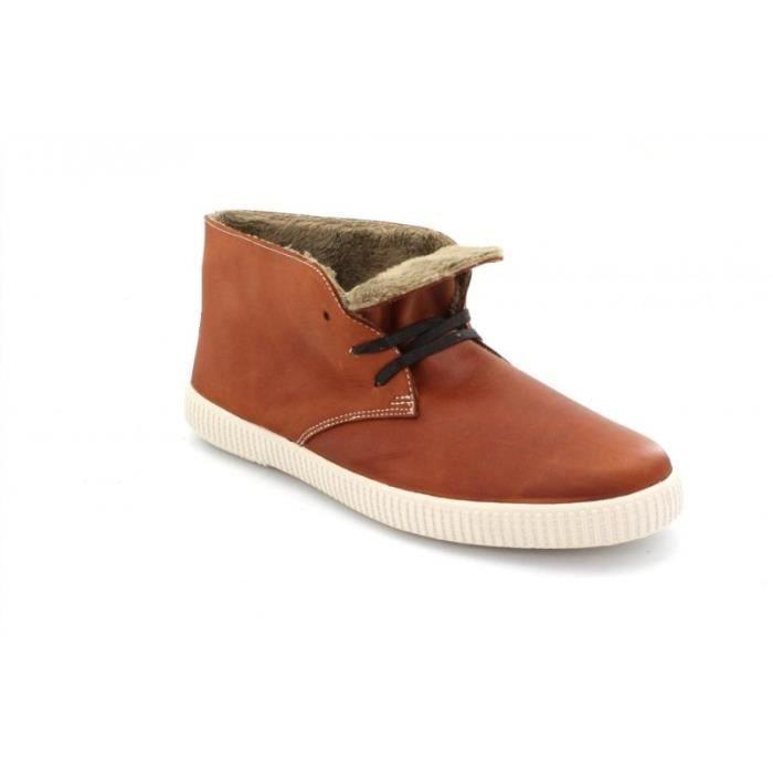 BASKET - Victoria chaussures chukka cuir teint fourrées