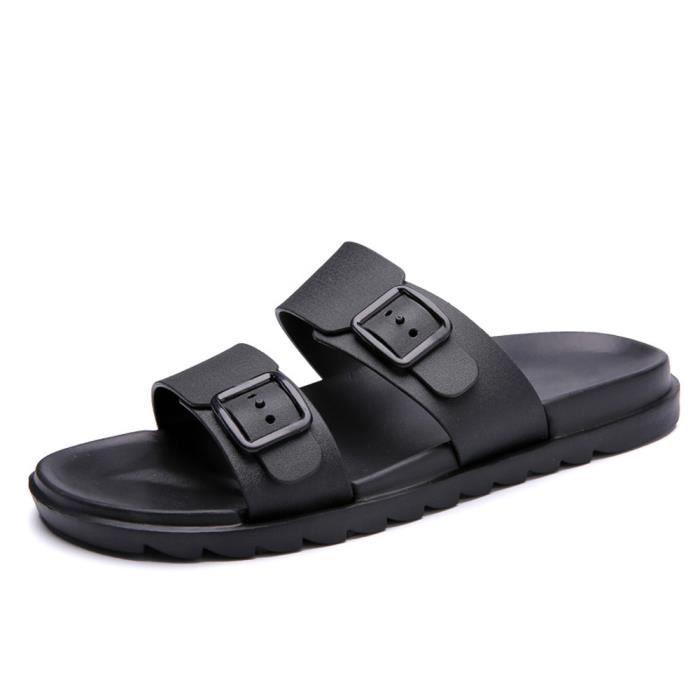 Doux Noir D'été Loisirs Hommes Confortables Tongs Sandales Reservece Chaussons Chaussures 7T0qcfw
