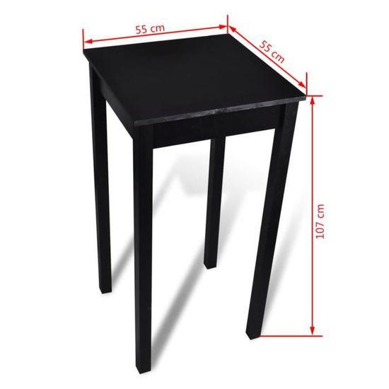 Table de bar Table de cuisine Noir MDF 55 x 55 x 107 cm
