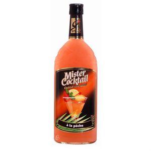 Apéritif sans alcool Bouteille sans alcool Mister cocktail Peche