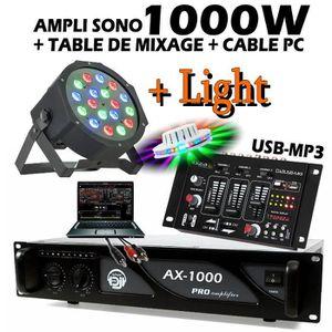 PACK SONO Pack SONO JEUX DE LUMIERE Table de Mixage USB + 1