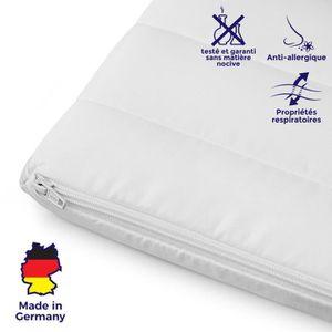 SUR-MATELAS Surmatelas 140x190 cm mousse confort housse microf