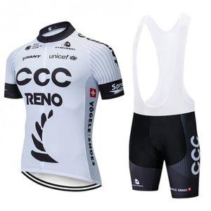 MAILLOT DE CYCLISME CCC Maillot cyclisme homme manches courtes avec cu