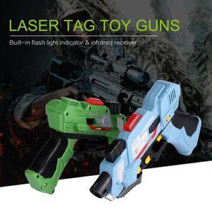JOUET À TIRER 2 pcs Enfant(>8 ans) Laser pistolets numérique DE