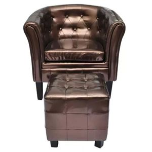 FAUTEUIL Sofa Fauteuil cabriolet avec repose-pied Cuir synt