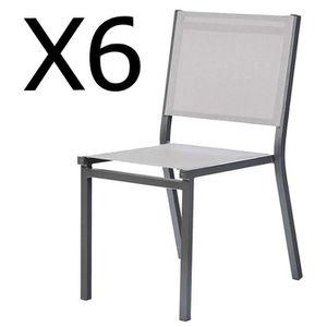 Lots jardin de Achat cher 6 pas chaises Vente nwk80OP