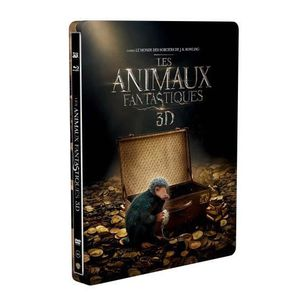 BLU-RAY FILM Les Animaux fantastiques Steelbook Blu-ray 3D + 2D