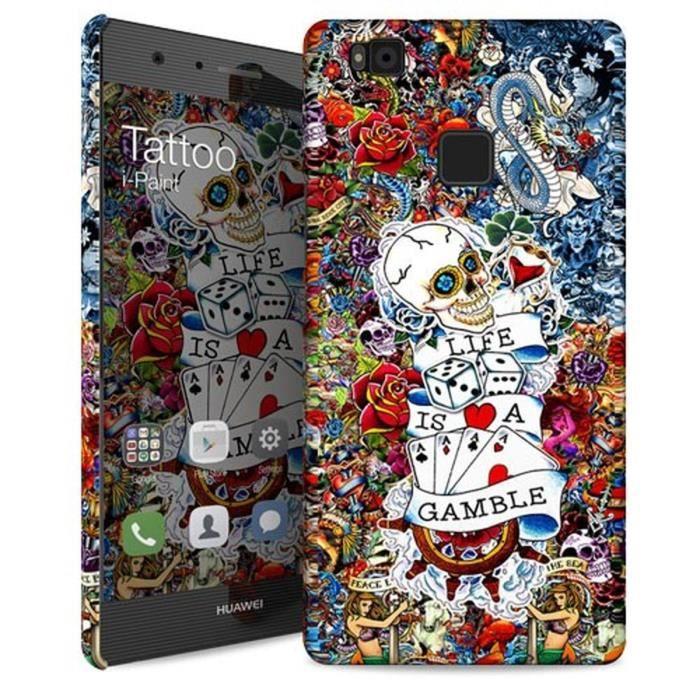 I-PAINT Coque Tattoo Huawei P9 Lite