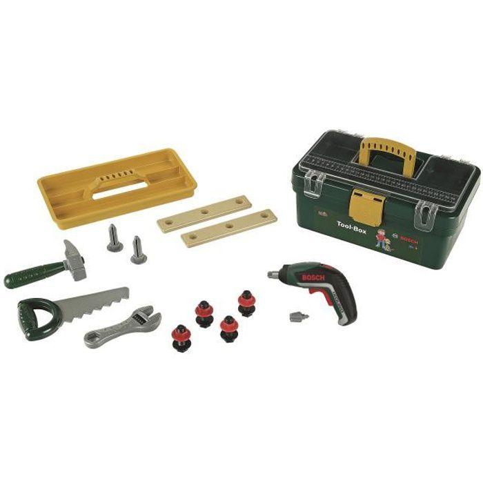 BOSCH - Mallette à outils Bosch avec Visseuse et Compartiments pour Enfant