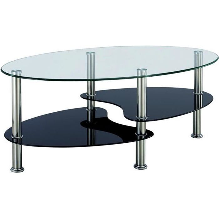 Table Basse En Verre Ovale Achat Vente Table Basse En