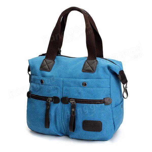 SBBKO406Ekphero femmes hommes toile de poche multi sacs à main occasionnels oreiller épaule sac bandoulière sacs Bleu Clair