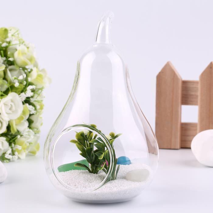 vase en forme de poire bouteille en verre d cor achat. Black Bedroom Furniture Sets. Home Design Ideas