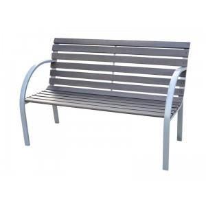 Banc de jardin métal et bois - Achat / Vente banc d\'extérieur Banc ...