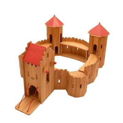jouet en bois large forteresse chateau fort achat vente univers miniature cdiscount. Black Bedroom Furniture Sets. Home Design Ideas