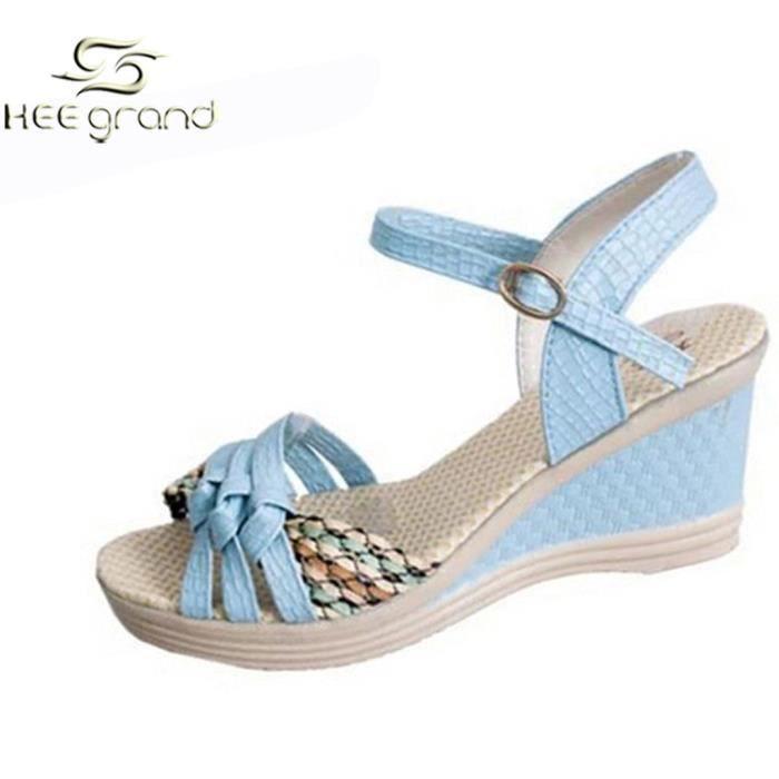 Sandale de Plate-forme Femme Fille chaussure Vi... mSwwhvM