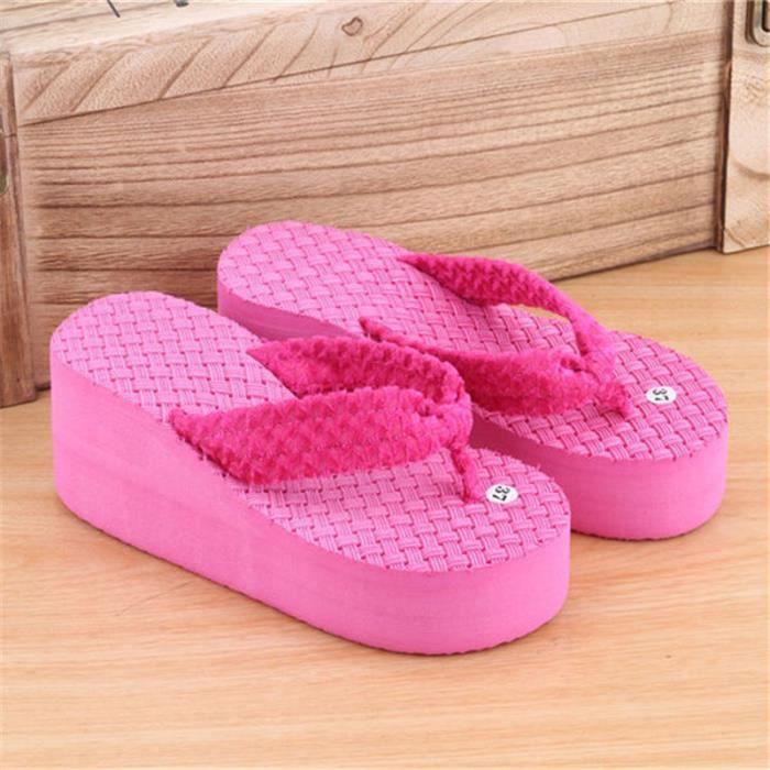 chaussure femme tendance de chaussures d'été sandales pantoufles hauteur croissante plates femme sandales sandale talon strass YNsVtY8kz