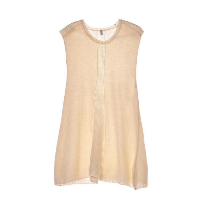 nouveau produit 50332 2165b Robe pull en laine mélangée - ecru Blanc Ecru - Achat ...
