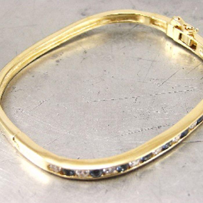 Bracelet Plaqué Or Diane saphir