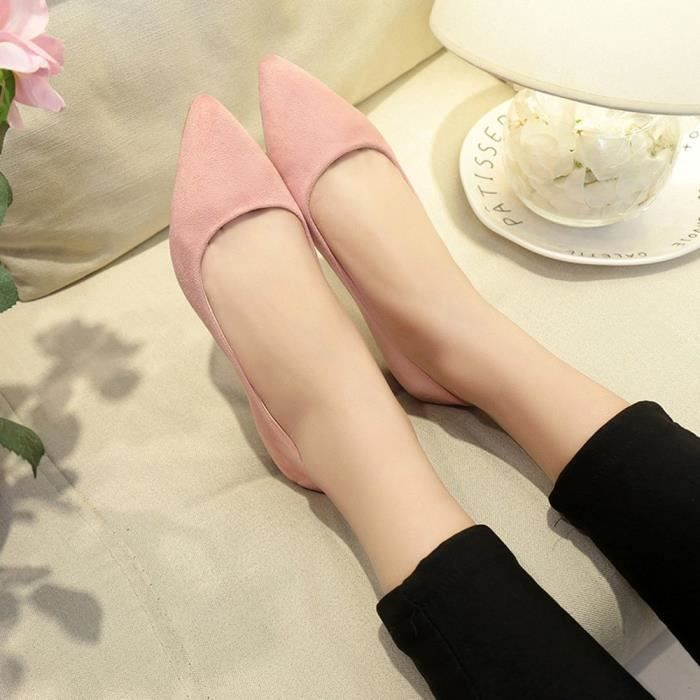 Femmes Pointed Girl on Fashion Slip Shoes Top Rose Party Casual Flat Shallow fqHdWAwd