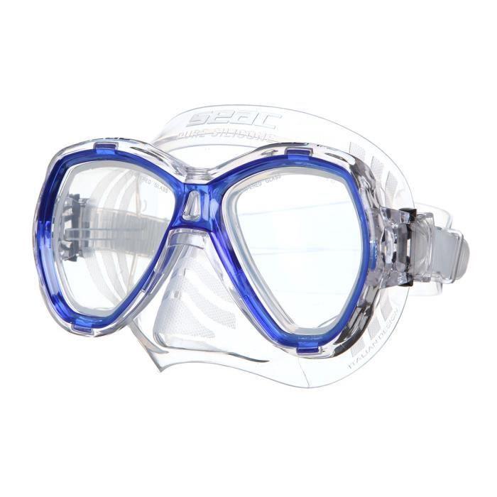SEAC Masque de plongée Elba - Médium - Bleu