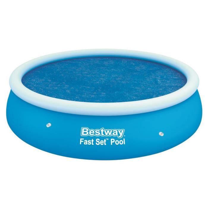 BESTWAY Bâche solaire Ø 210cm pour piscine Fast Set Pool ronde Ø 244cm
