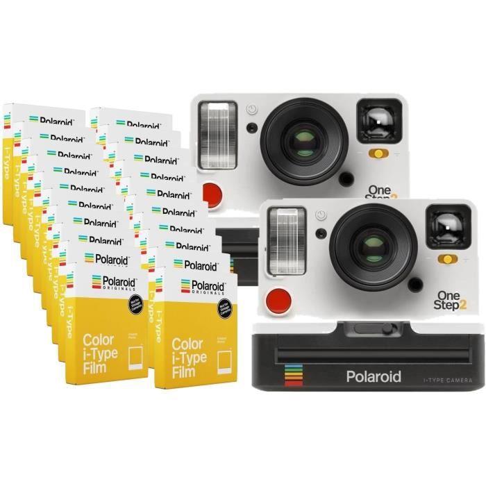 Pack Evénement : 2 Polaroid OneStep2 - Avec Viseur - Appareil photo instantané - Blanc + 160 Films