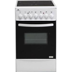 Continental Edison CVMC5060W - Cuisini?re table vitrocéramique-4 foyers- 1700W- Four élecectrique-Catalyse-45,36L-B-L49XH83-Blanc