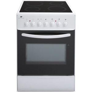 CONTINENTAL EDISON CVMC6060W - Cuisini?re table vitrocéramique-4 foyers- 1700W-Four électrique- Catalyse-61L-A-L60XH85cm-Blanc