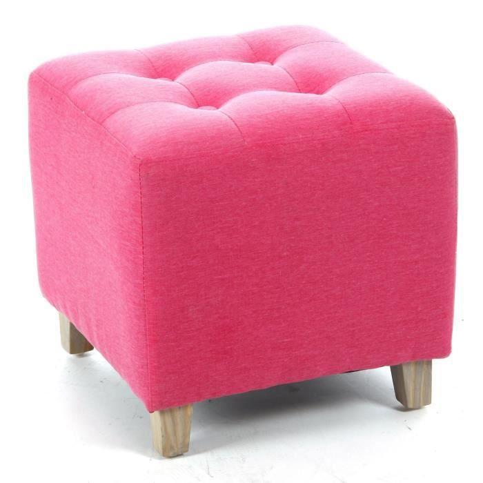 pouf leandre lin rose 35x35 cm achat vente pouf poire lin soldes d s le 10 janvier. Black Bedroom Furniture Sets. Home Design Ideas