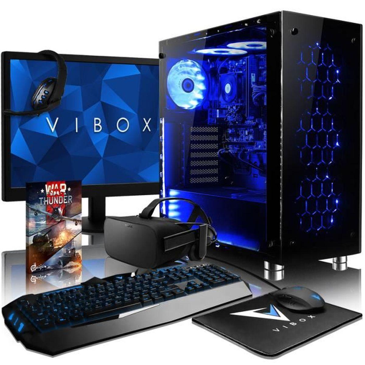 UNITÉ CENTRALE + ÉCRAN VIBOX Nebula VGR770T-53 VR PC Gamer avec Oculus Ri