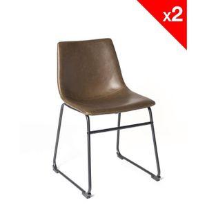 CHAISE HELIO47 Lot de 2 chaises industrielles (marron) bfa477f2fdf8