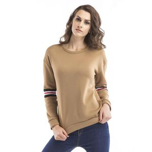 4c0551f48630fc PULL Pull Femmes Broderie Col Rond Manches Longues Chau