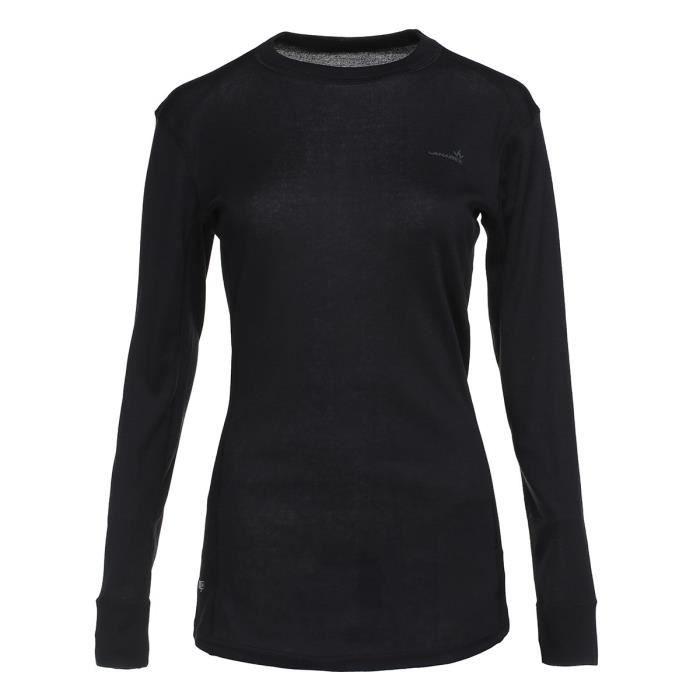 1ER PRIX Lot de 2 T-shirts de randonnée Prima Warm SML - Femme - Noir