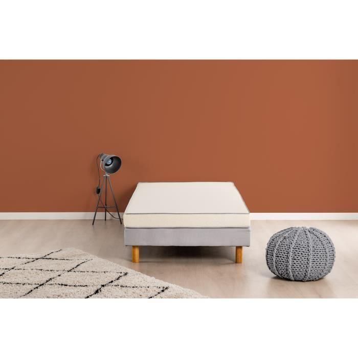 Matelas mousse 90 x 200 - Confort ferme - Epaisseur 10 cm - Fabrication européenne - DEKO DREAM Huopa