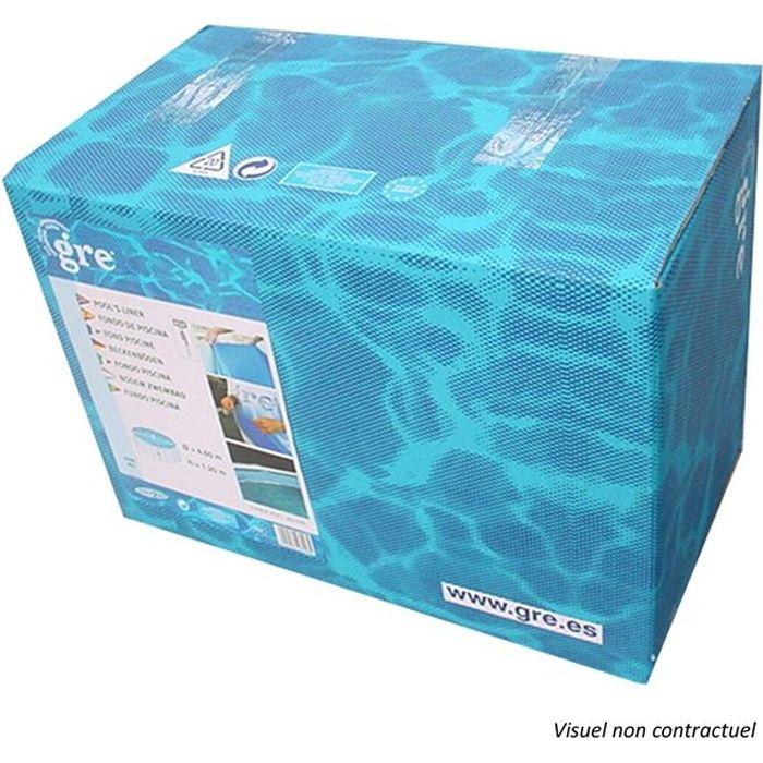 GRE Liner pour piscine ovale 610x375 cm h120 cm - Bleu