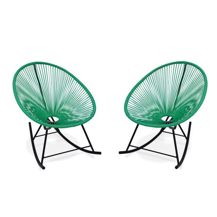 great fauteuils bascule design oeuf acapulco rocking vert menthe fauteuils design rocking chair. Black Bedroom Furniture Sets. Home Design Ideas