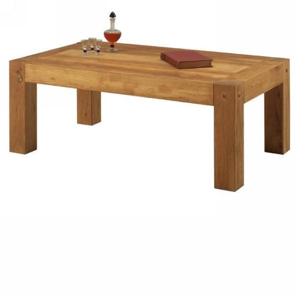Table Basse Chêne Massif Huilé Lodge Casita Meuble House Achat