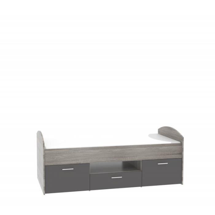 lit 1 place avec tiroir cadre de lit avec tiroir beau lit places avec tiroir lit lit lit place. Black Bedroom Furniture Sets. Home Design Ideas