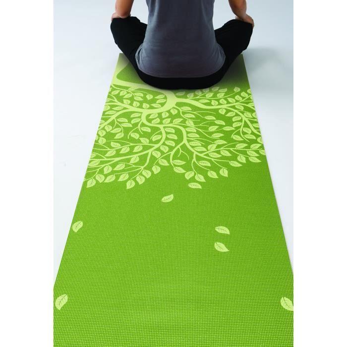 Gaiam Tapis De Yoga Imprime Arbre De Vie 3mm Prix Pas Cher