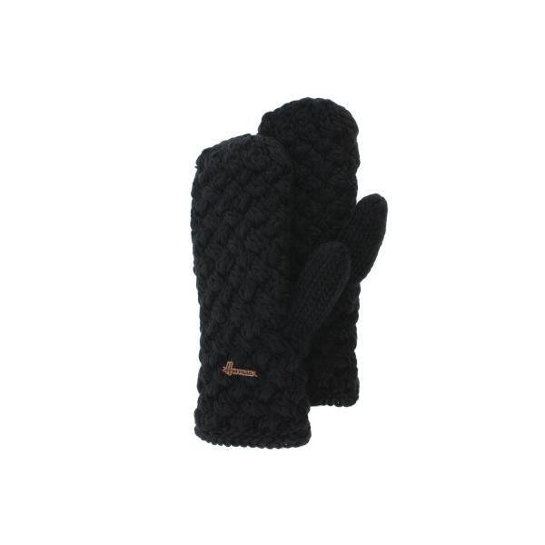 Gant Moufle Noire en Laine Galin Herman - Noir - Taille unique ... 7c670716237
