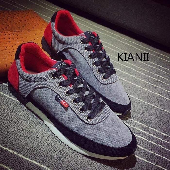 Kianii- Baskets Cortez Hommes Chaussures de course Gris 6EU2u
