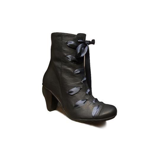 Bottines femme GREG H noires talon cuir noir original/mode