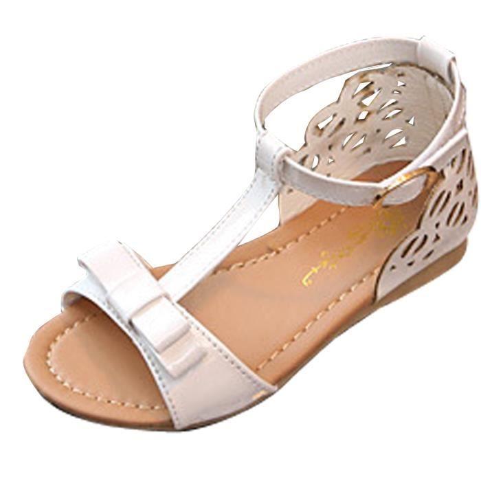 SANDALE - NU-PIEDS Sandales Enfant Fille Chaussures de Plage Nu-pieds